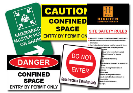 Safety & Hazard Signs provide information, to warn of danger or to indicate a safe situation.